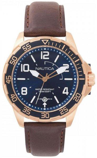 Zegarek Nautica Pilot House Navy Dial Leather Watch - męski  - duże 3