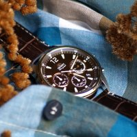 Zegarek męski Orient chronograph RA-KV0006Y10B - duże 2