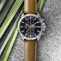 Lorus RM393EX9 zegarek srebrny sportowy Sportowe pasek