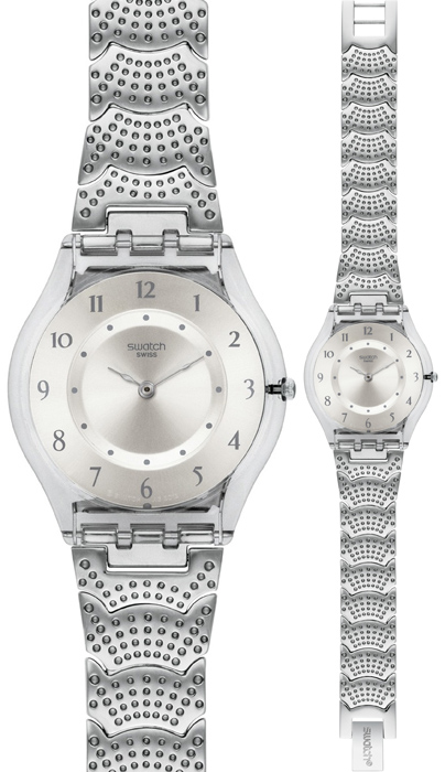 Zegarek damski Swatch skin classic SFM126G - duże 1