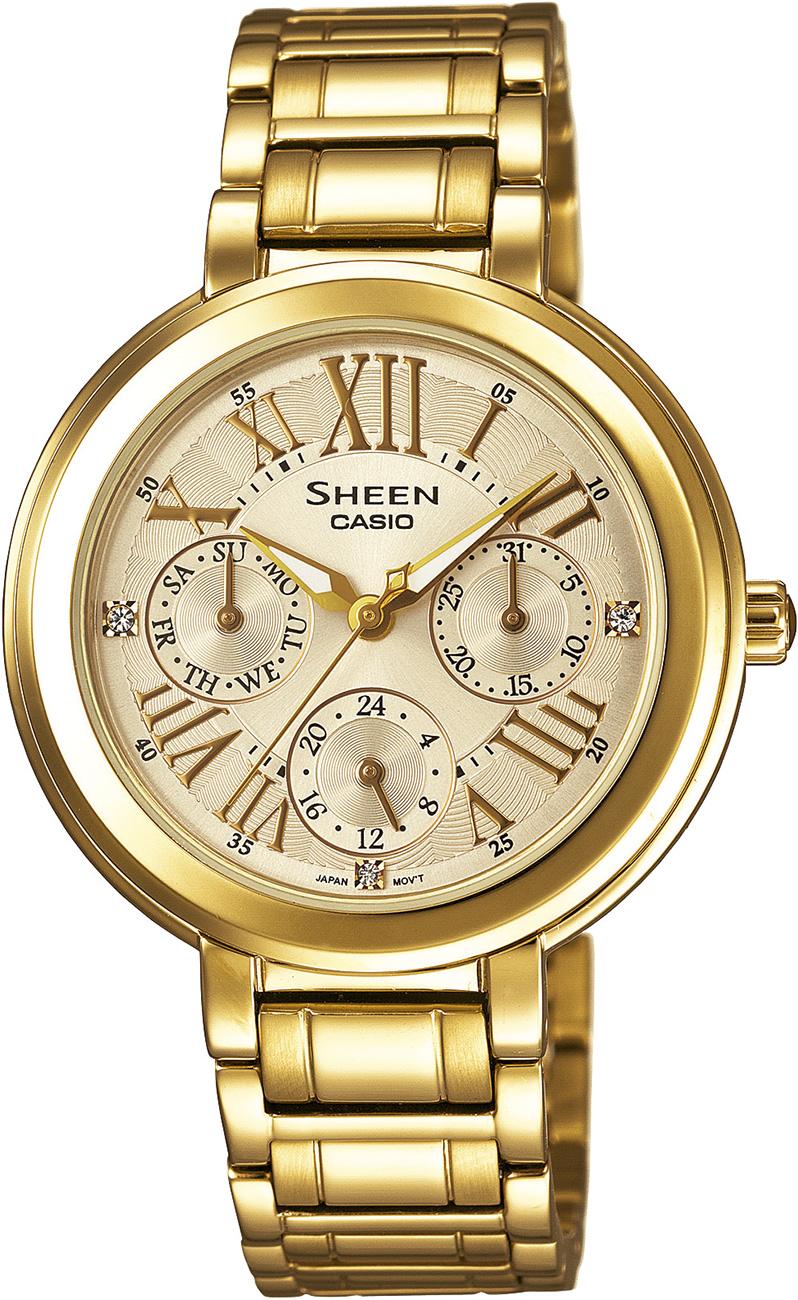 SHE-3034GD-9AUER - zegarek damski - duże 3