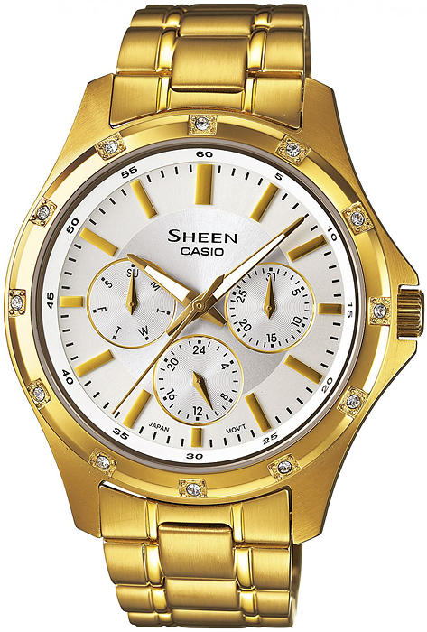 SHE-3801GD-7AEF - zegarek damski - duże 3