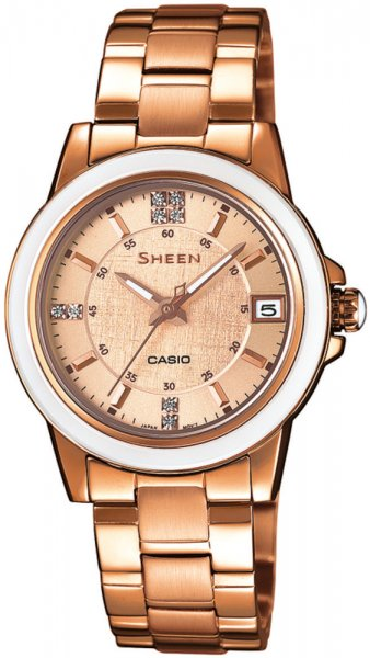 SHE-4512PG-9AUER - zegarek damski - duże 3