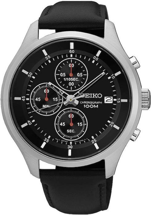 Zegarek męski Seiko chronograph SKS539P2 - duże 1