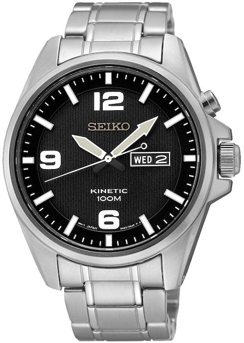 Zegarek męski Seiko kinetic SMY137P1 - duże 1