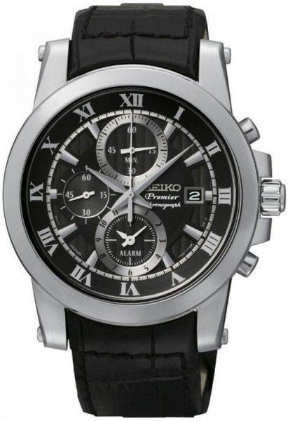 Zegarek męski Seiko premier SNAF31P2 - duże 1