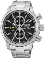 Zegarek męski Seiko chronograph SNAF45P1 - duże 1
