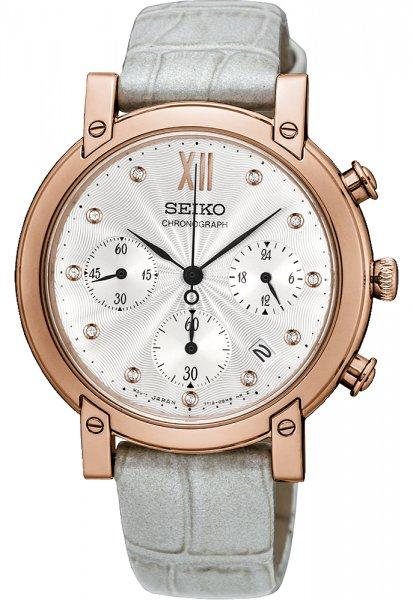 Zegarek damski Seiko chronograph SRW834P1 - duże 3