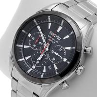 Zegarek męski Seiko chronograph SSB089P1 - duże 2