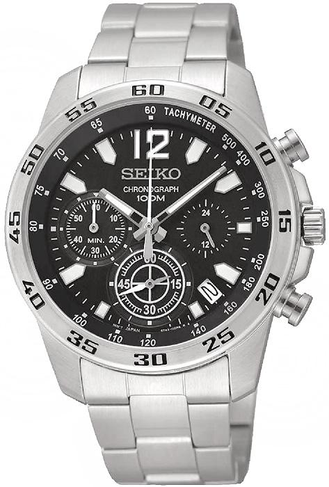 Zegarek męski Seiko chronograph SSB125P1 - duże 1