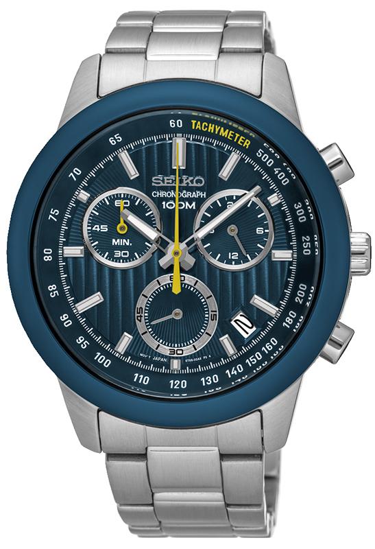 Zegarek Seiko SSB207P1 - duże 1