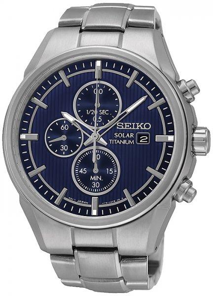Zegarek męski Seiko Solar SSC365P1 - zdjęcie 1
