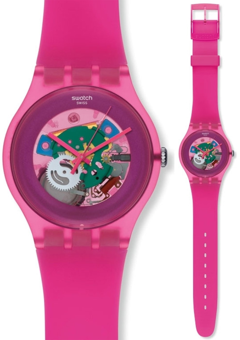 Swatch SUOP100 Originals New Gent Pink Lacquered