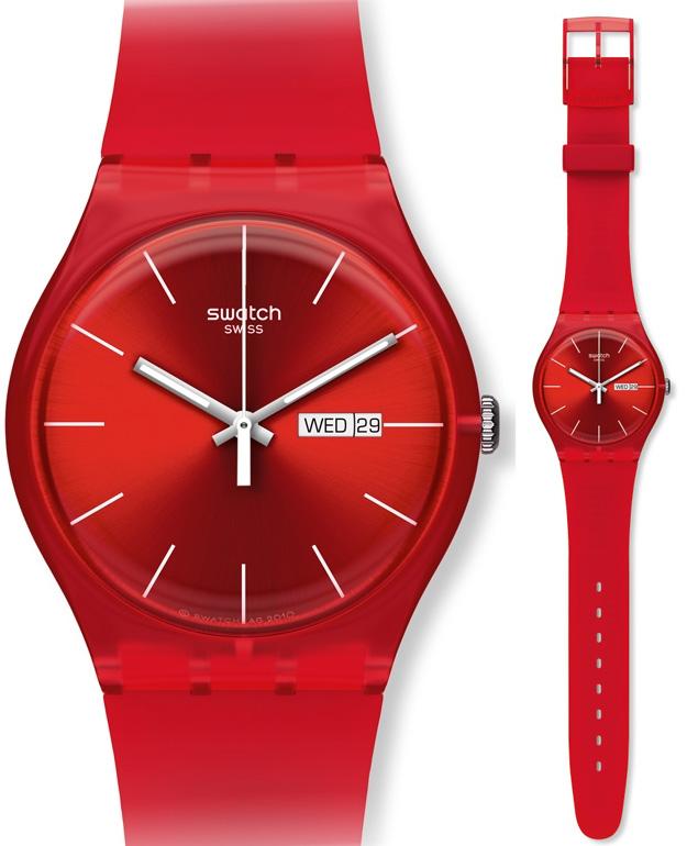 Swatch SUOR701 Originals New Gent Red Lebel