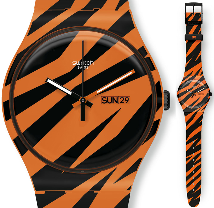 Swatch SUOZ703 Originals New Gent WONDER ZEBRA