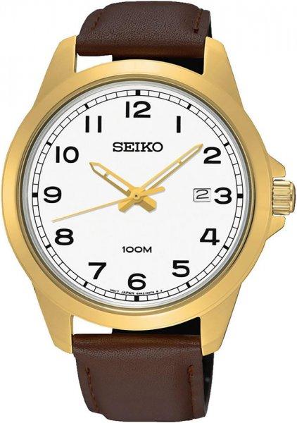 Seiko SUR160P1 Classic Quartz Leather Classic 100m