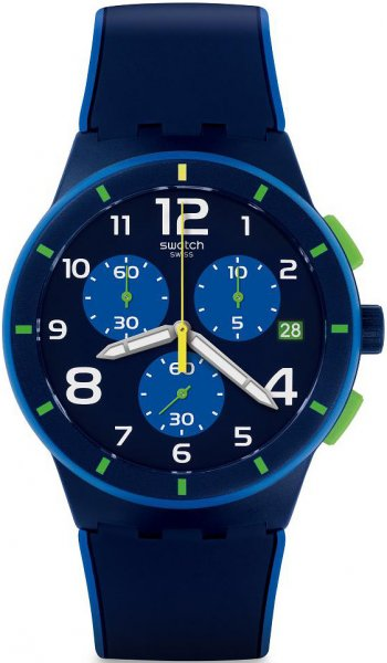 Swatch SUSN409 Originals Chrono BLEU SUR BLEU