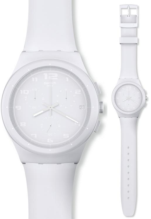 Swatch SUSW400 Originals Chrono Basic White