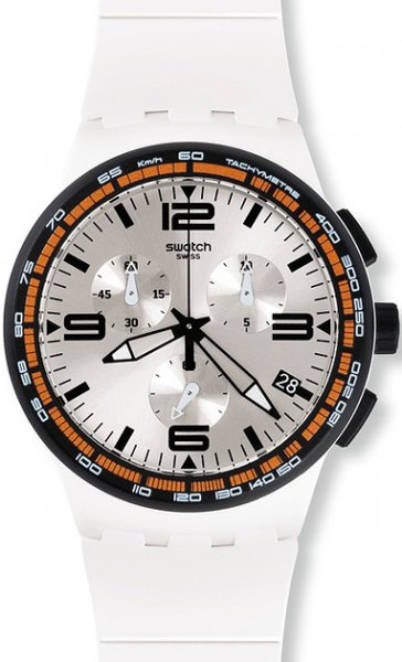 Swatch SUSW405 Originals Chrono WHITE BLADES