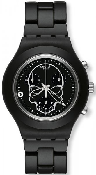 Swatch SVCF4001AG Irony Full Blooded Black Skull