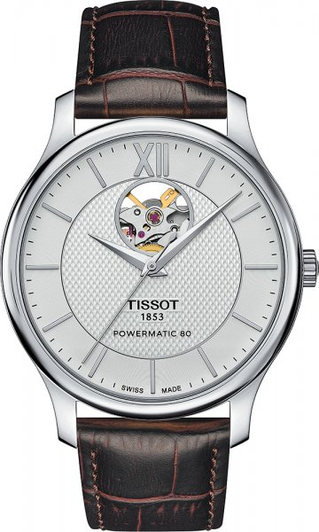 Tissot T063.907.16.038.00 Tradition TRADITION POWERMATIC 80 OPEN HEART