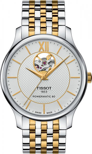 Tissot T063.907.22.038.00 Tradition TRADITION POWERMATIC 80 OPEN HEART