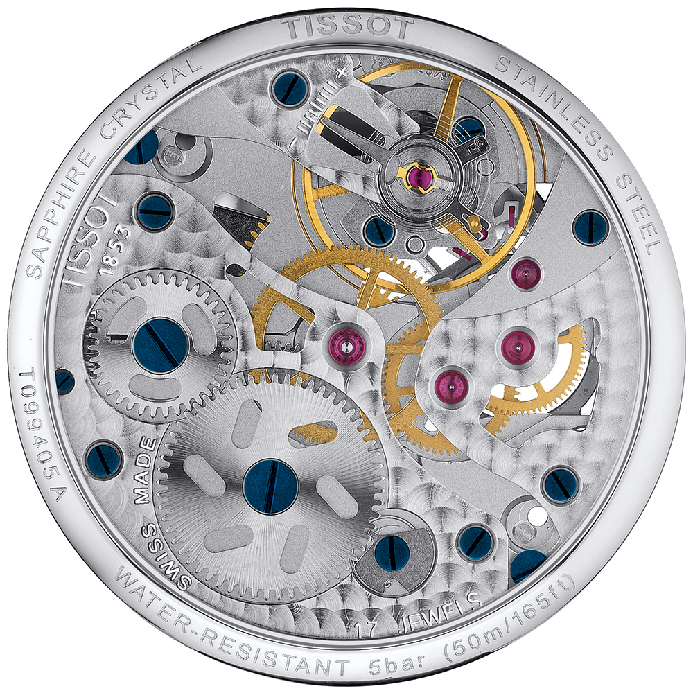 Mechanizm zegarka Tissot T099.405.11.418.00 Chemin Des Tourelles Squelette Mechanical.