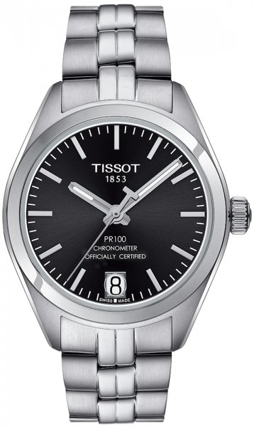 Zegarek Tissot PR 100 POWERMATIC 80 LADY COSC - damski  - duże 3