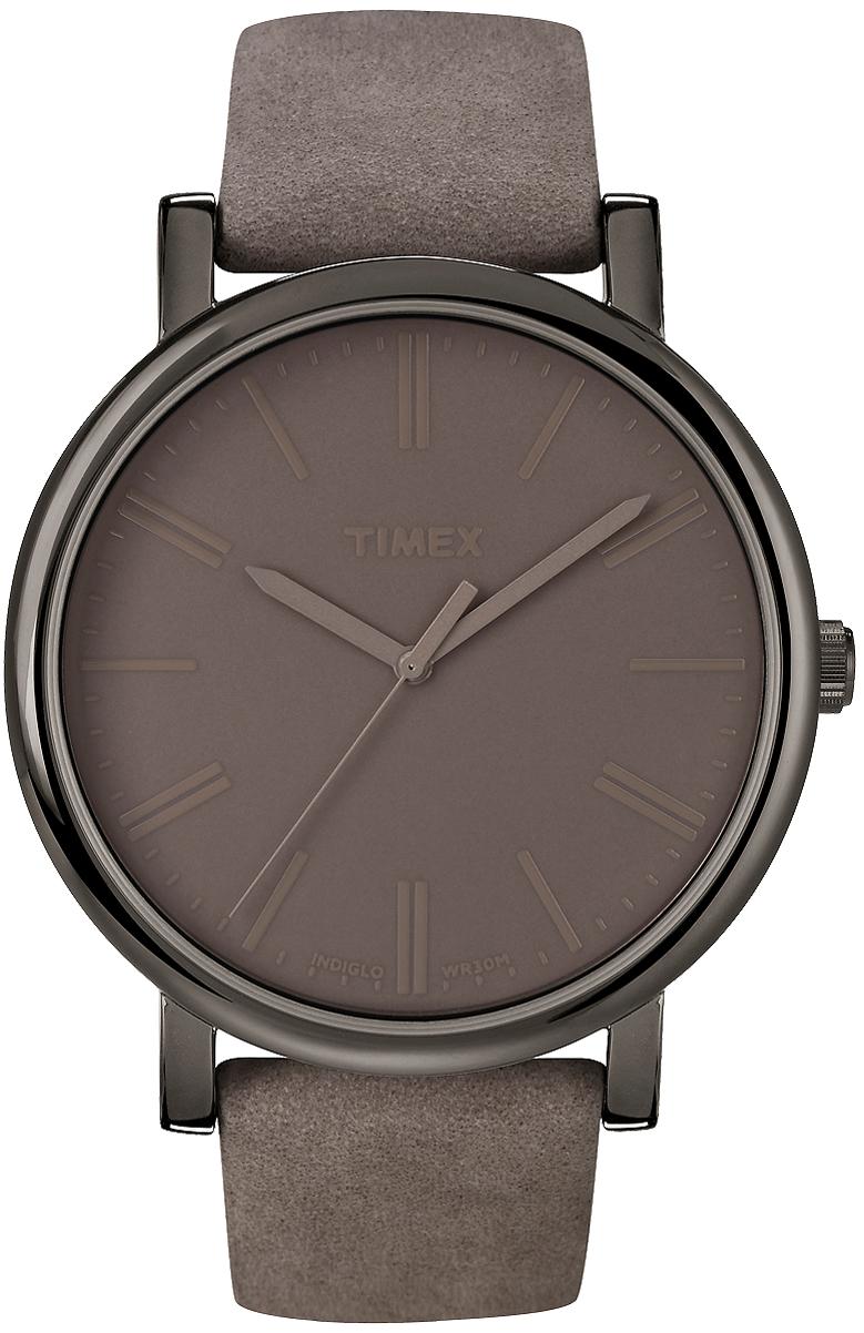 Klasyczny, damski zegarek Timex T2N795 Originals Oversized na skórzanym brązowym pasku z koperta wykonaną ze stali w kolorze brązowym. Tarcza zegarka jest minimalistyczna w kolorze brązowym z brązowymi wskazówkami jak i indeksami.