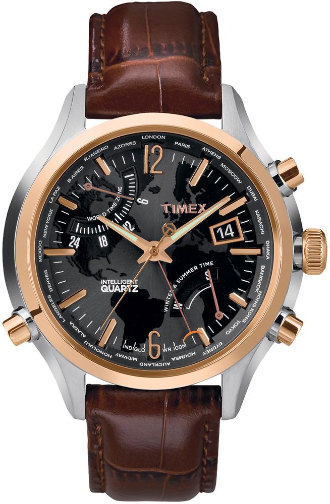 Zegarek Timex Intelligent Quartz World Time - męski