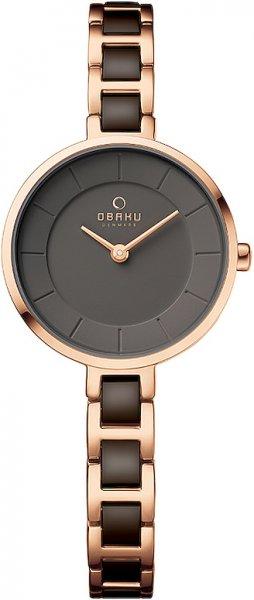Zegarek Obaku Denmark VIND - COFFEE - damski  - duże 3