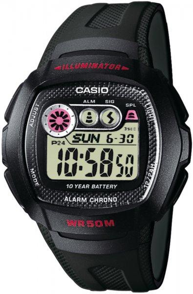 Zegarek męski Casio sportowe W-210-1C - duże 1