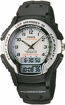 Casio WS-300-7B Analogowo - cyfrowe