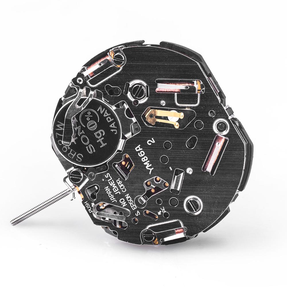 Przykład mechanizmu kwarcowego w zegarku Vostok.