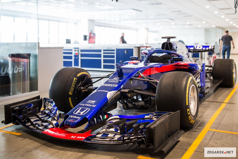 Bolid Formuły 1.