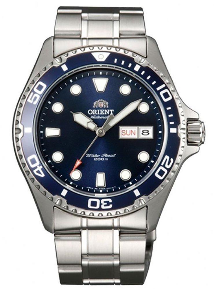 Sportowy, męski zegarek Orient FAA02005D9 Ray II na stalowej bransolecie w srebrnym kolorze oraz okrągłej kopercie ze stali również w srebrnym kolorze.