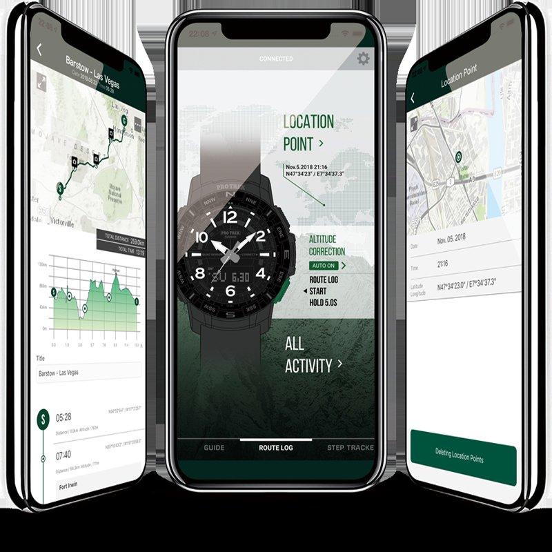 Łączenie zegarka Casio ProTrek ze smartfonem za pomocą funkcji Bluetooth.