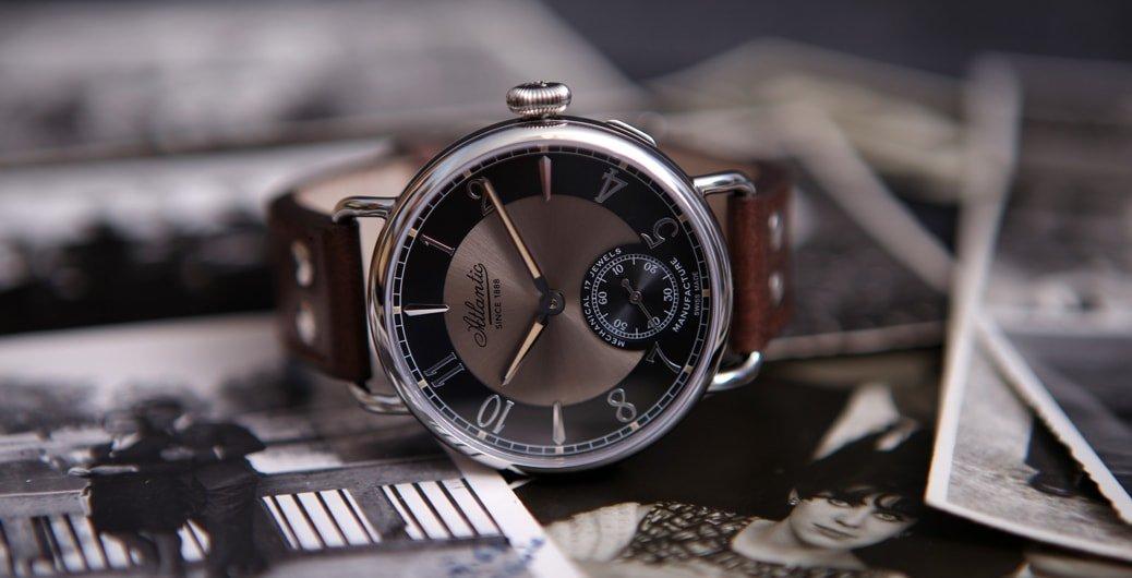 Mechaniczny, męski zegarek Atlantic 57950.41.65B WORLDMASTER 130TH ANNIVERSARY.