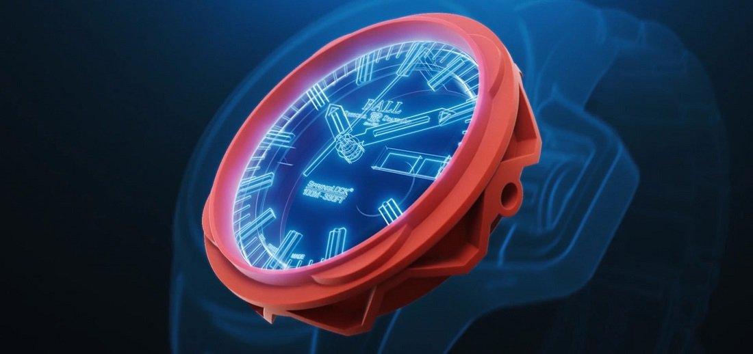 Odporny Elastomer Ring w zegarku Ball