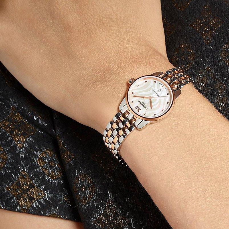 Damski zegarek Certina C033.051.22.118.00 DS-8 z piękną tarczą na specjalne okazje.
