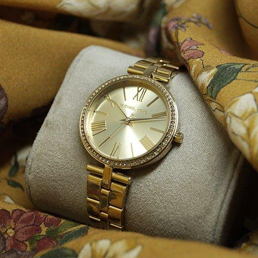 Zegarek Michael Kors w złotym kolorze na bransolecie