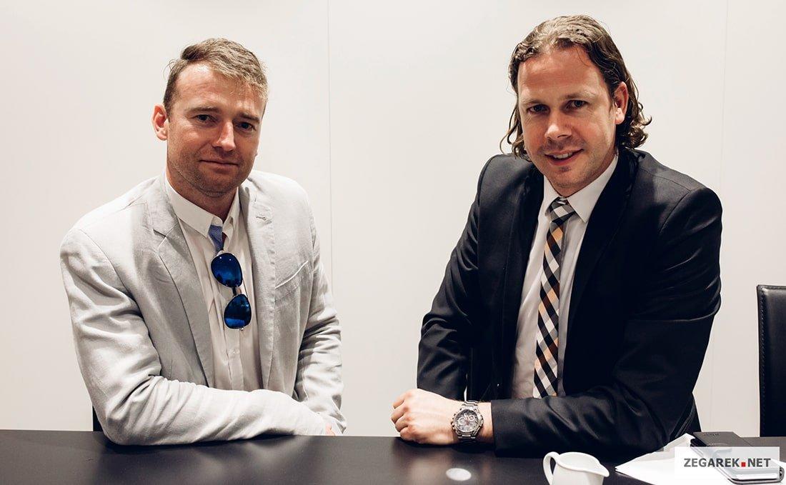 Pracownik ZEGAREK.NET oraz Daniel Francke.