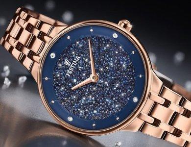 Damskie zegarki Festina Mademoiselle z kryształkami Swarovski - zdjęcie