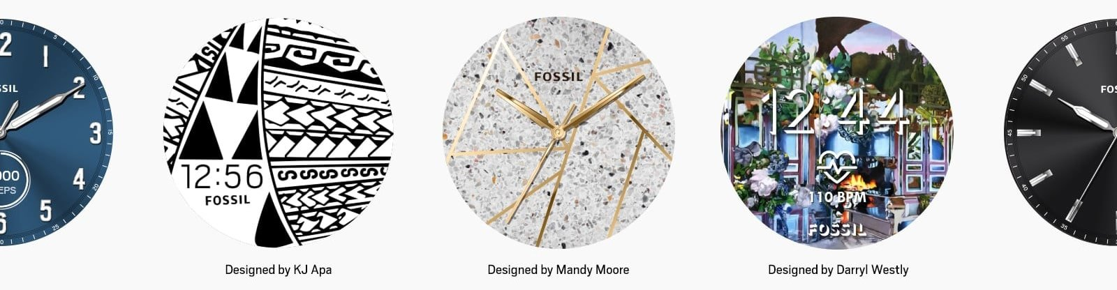 Personalizowane tarcze smartwatcha Fossil Q
