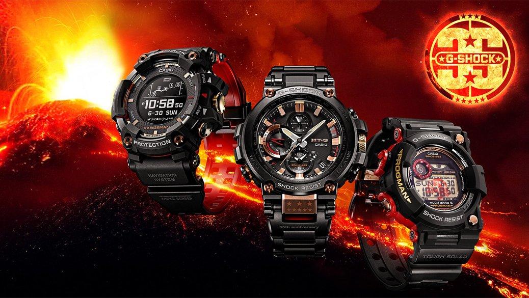 Kolekcja zegarków G-shock RANGEMAN Magma Ocean na 35 rocznice firmy.