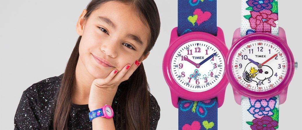 Kolorowe jak i kreatywne zegarki dla dzieci marki Timex.