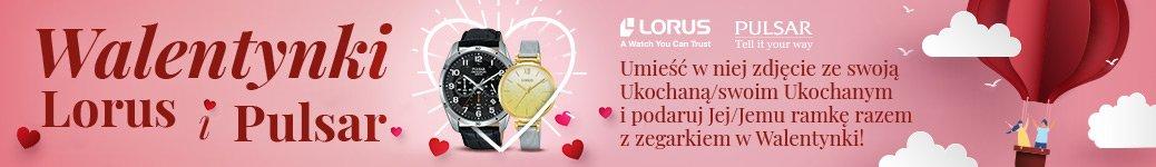 Ramki gratic z zegarkami Pulsar oraz Lorus