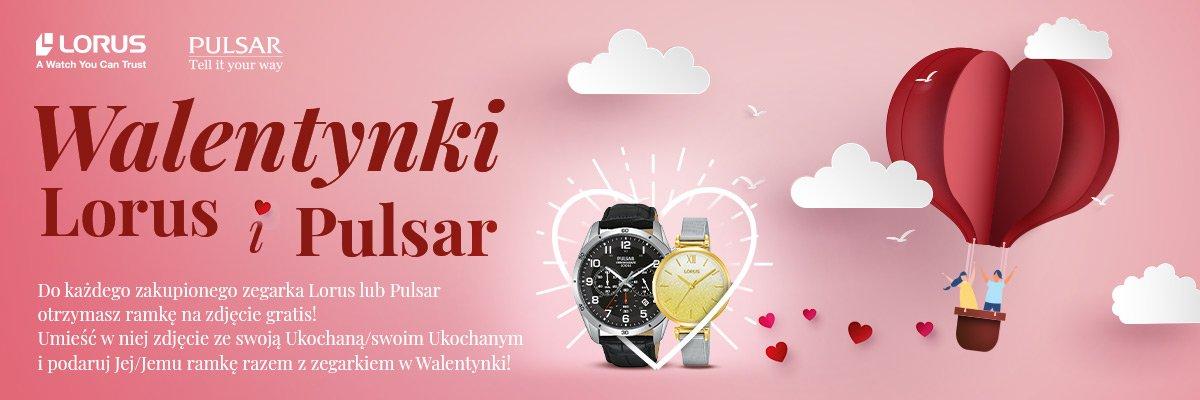 Walentynki z zegarkiem Lorus oraz Pulsar