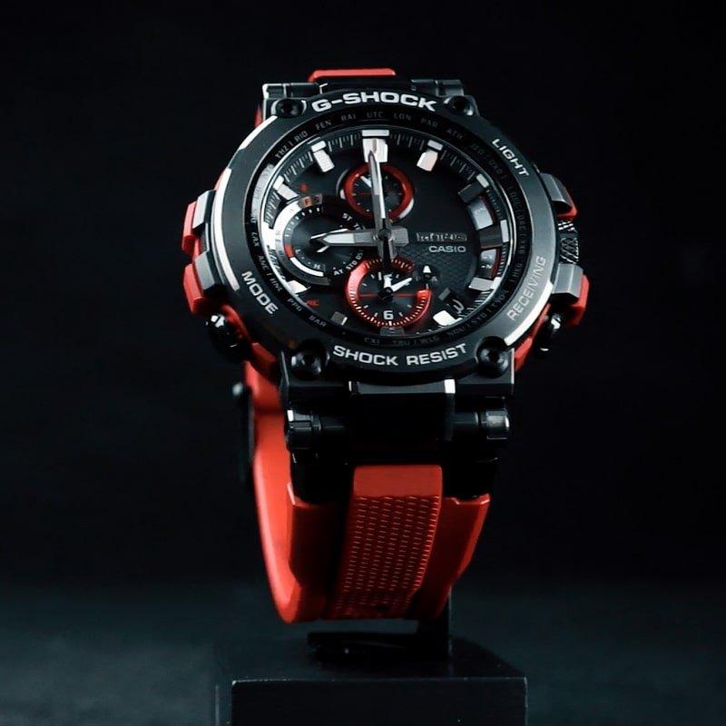 Imponujący, męski zegarek G-Shock MT-G MTG-B1000B-1A4ER ze wzmocnionym włóknem.