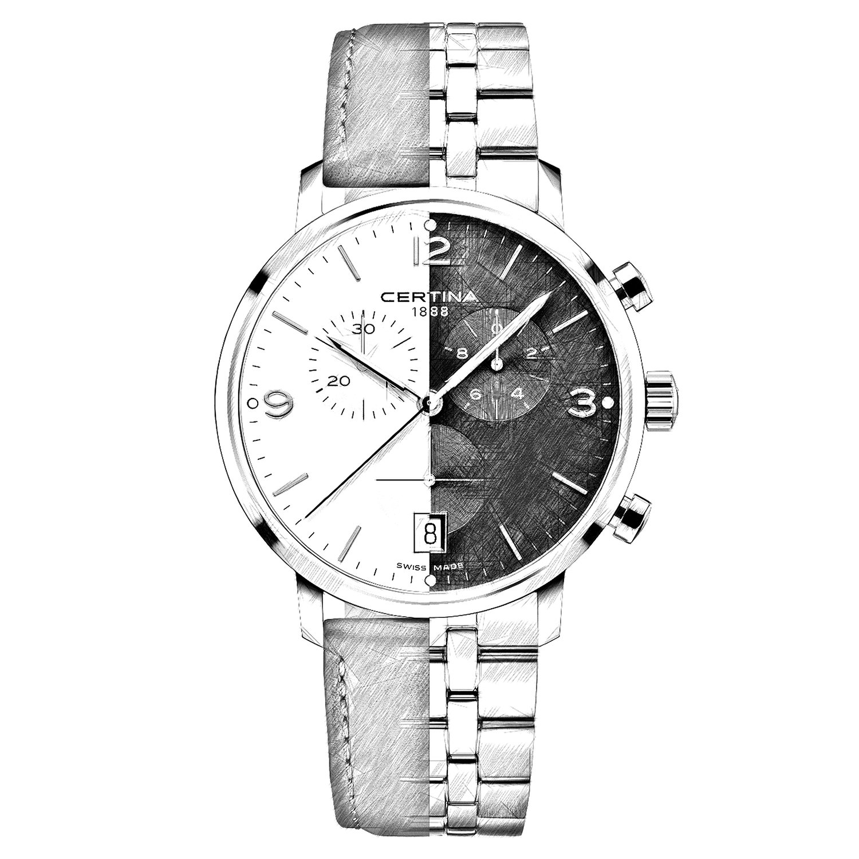Projekt nowego zegarka Certina DS Caimano Chronograph